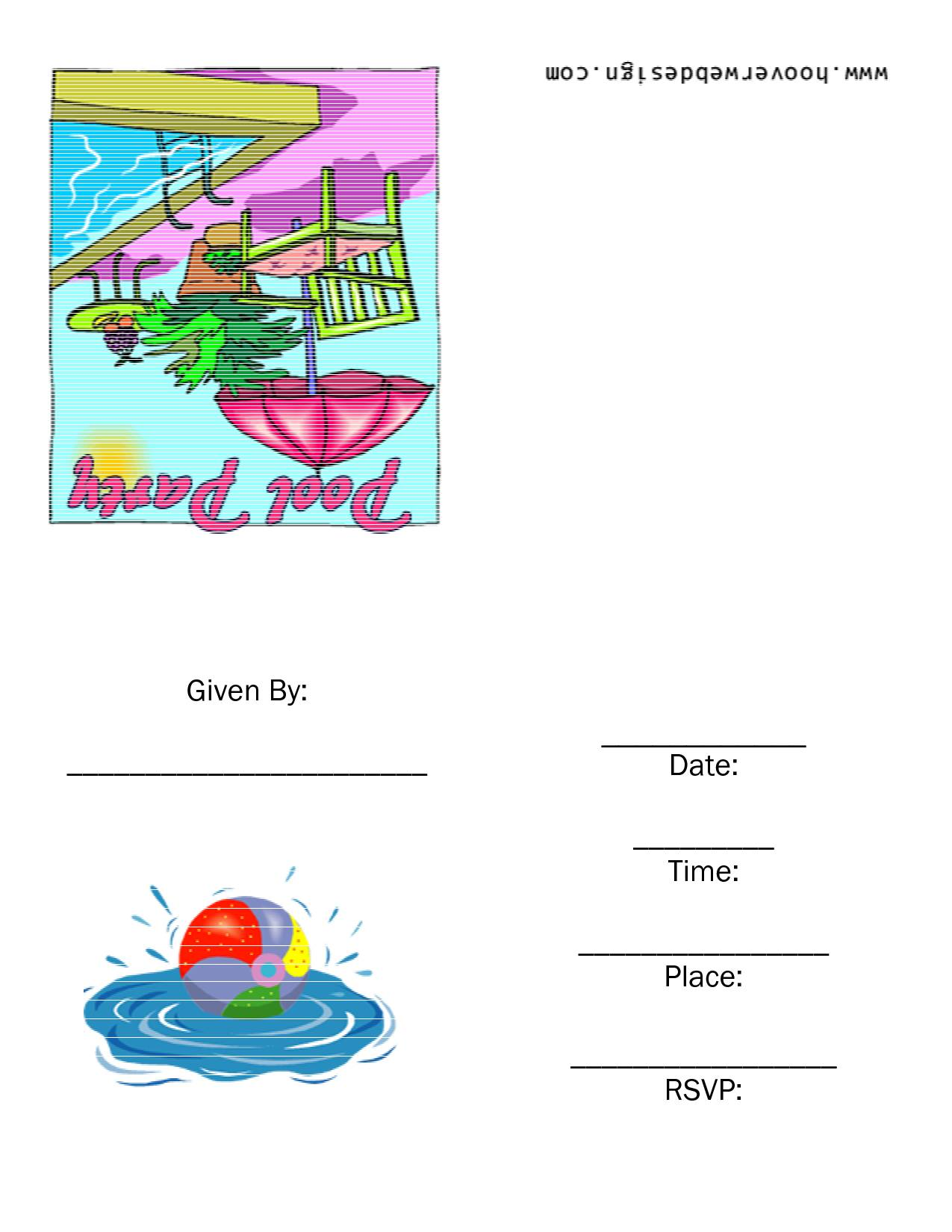 Templates For Birthday Party Invitations
