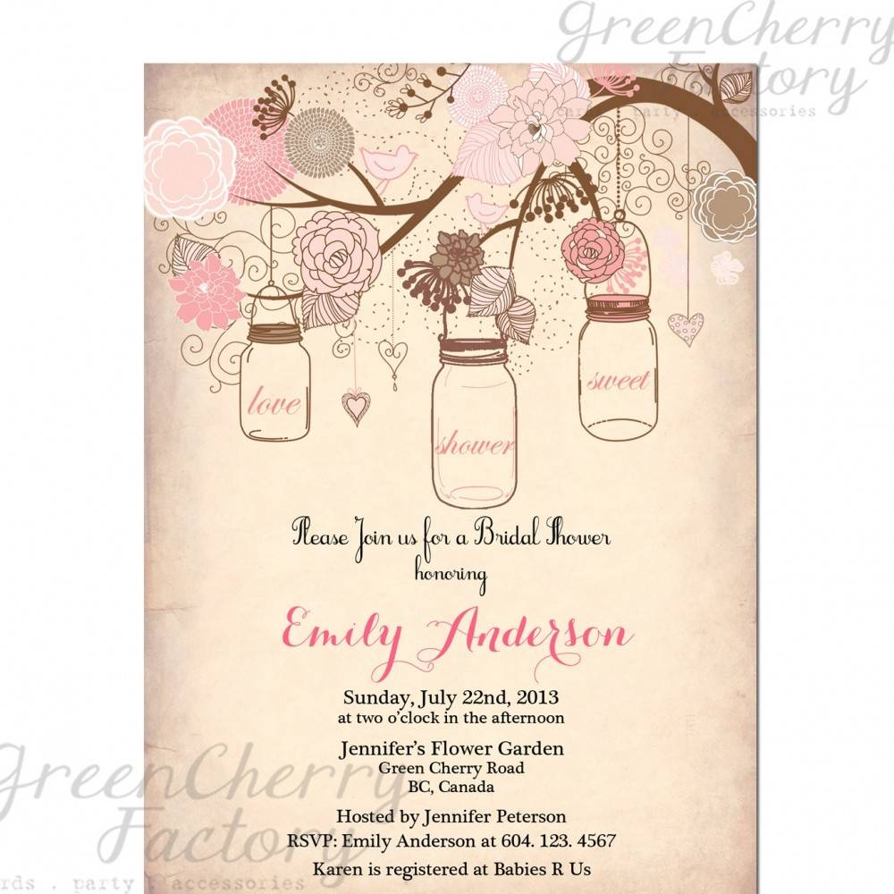 Templates For Bridal Shower Invitations Printable