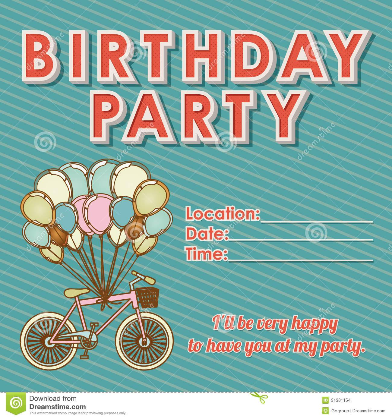 Templates For Children's Birthday Invitations