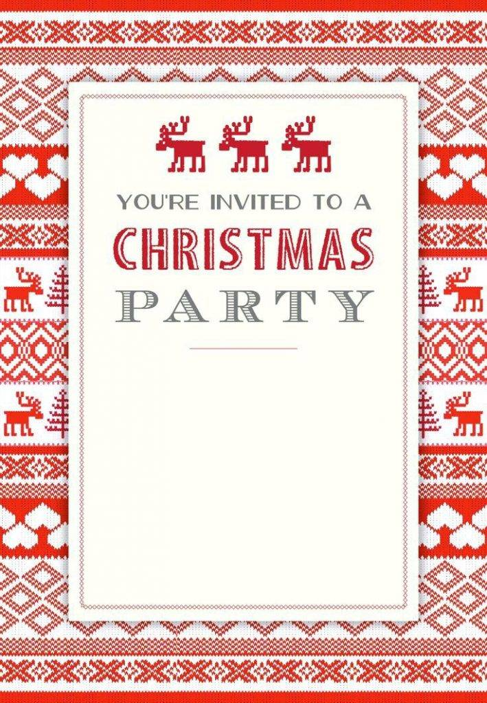 Templates For Christmas Invites