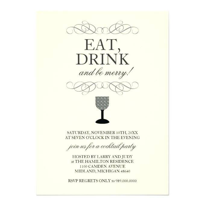 Templates For Cocktail Invites