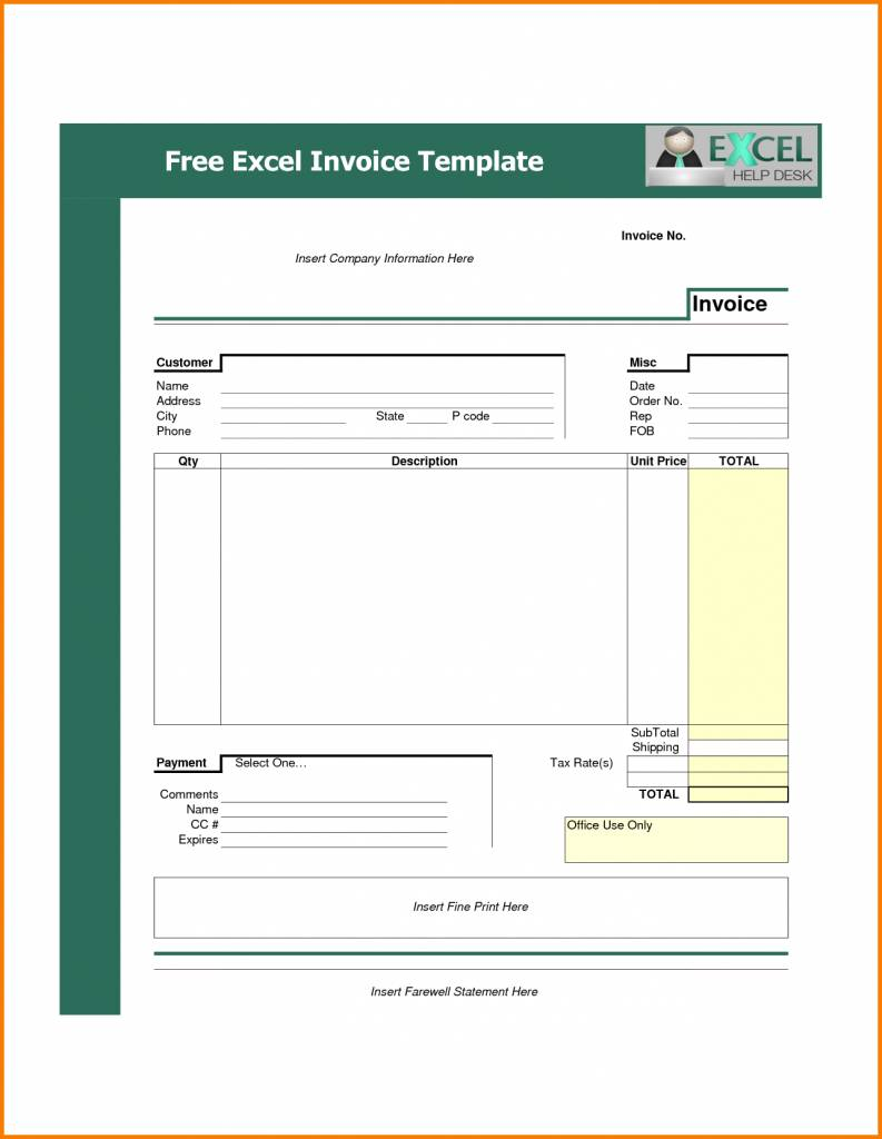 Templates For Construction Invoices