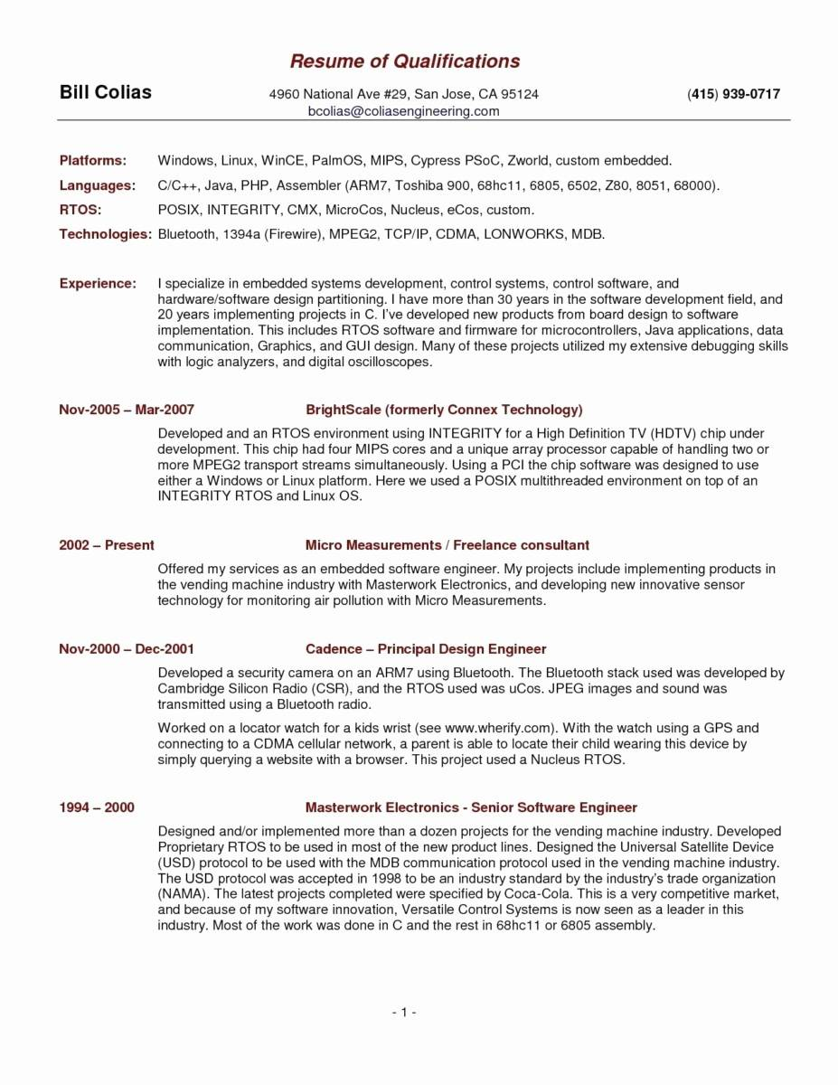Templates For Curriculum Vitae