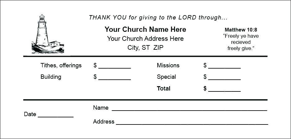 Templates For Donation Envelopes