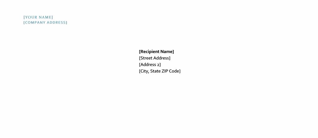 Templates For Envelopes In Word
