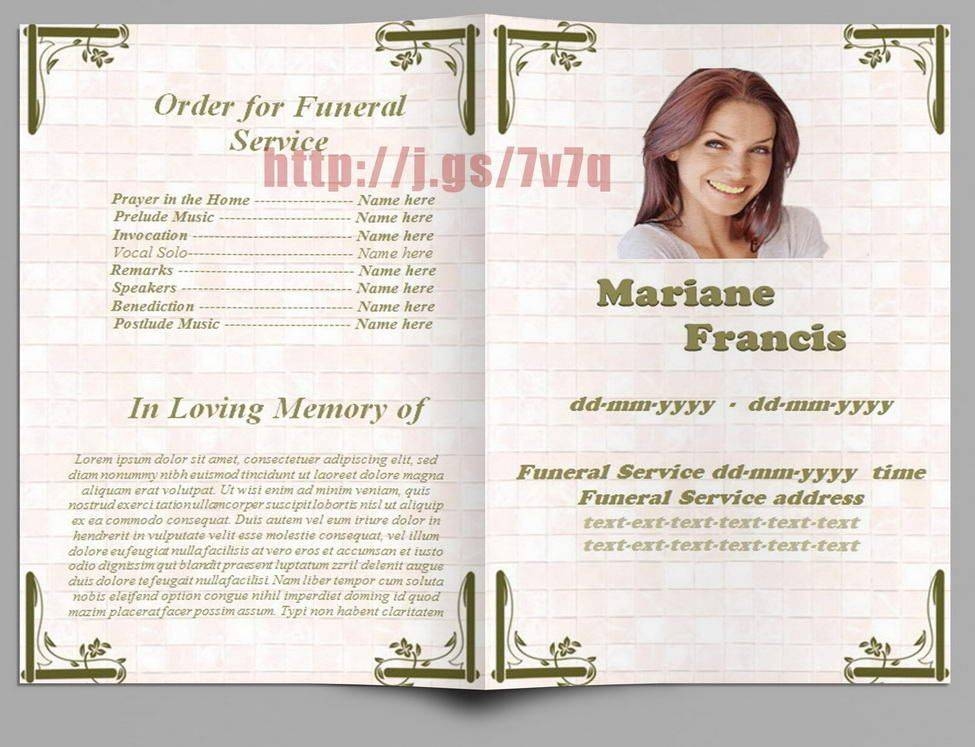 Templates For Funeral Programs