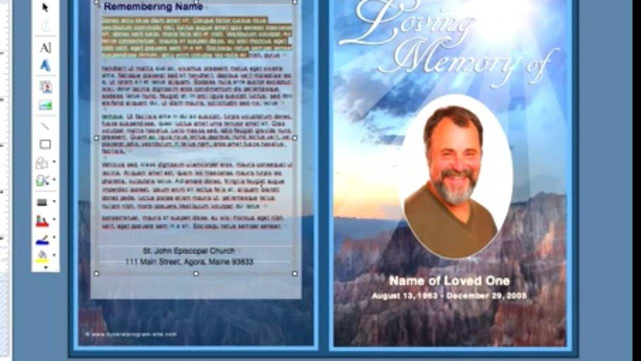 Templates For Funeral Service Programs