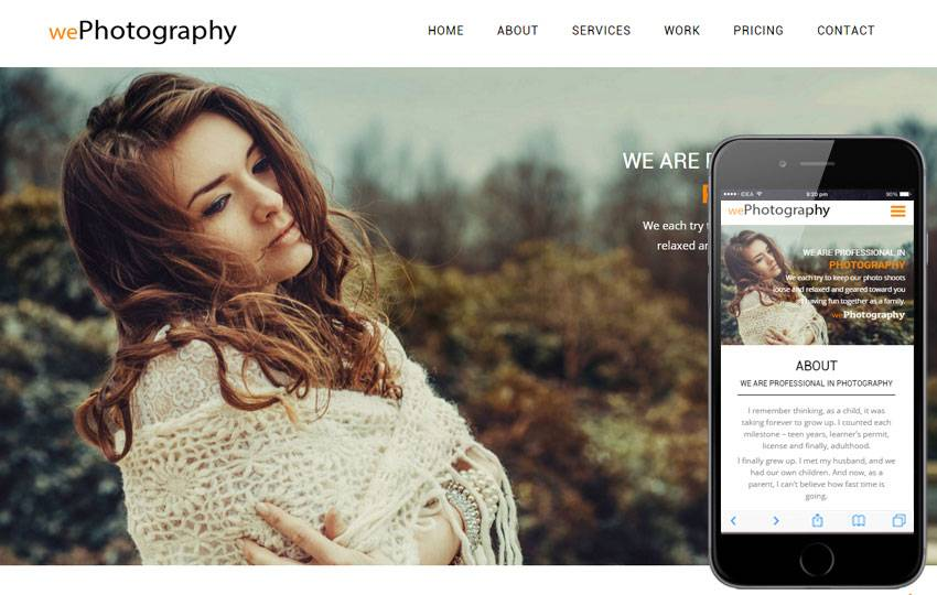 Templates For Photographers Website