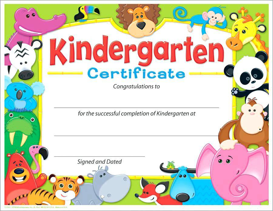 Templates For Preschool Graduation Certificates
