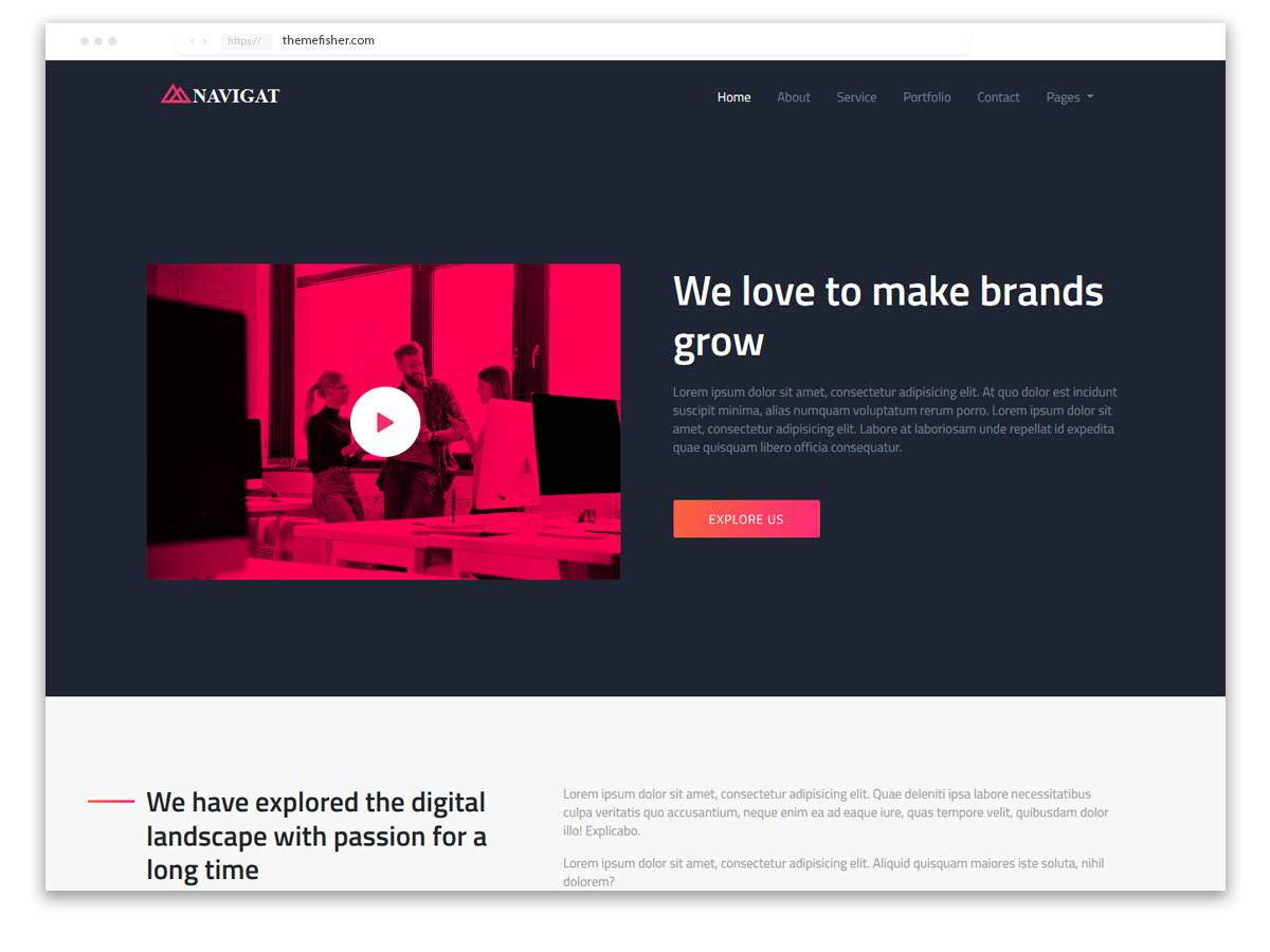 Templates Html5 Responsive Bootstrap