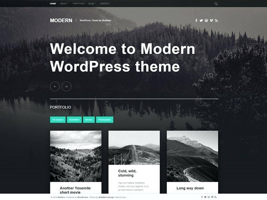 Templates Portfolio WordPress Gratis