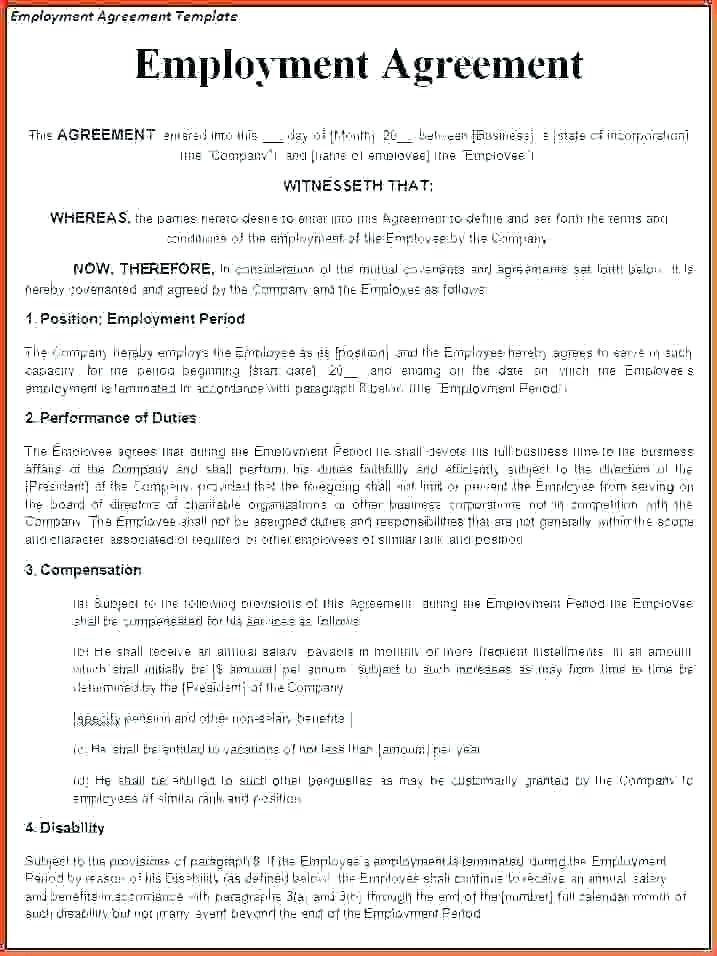 Temporary Employee Contract Form
