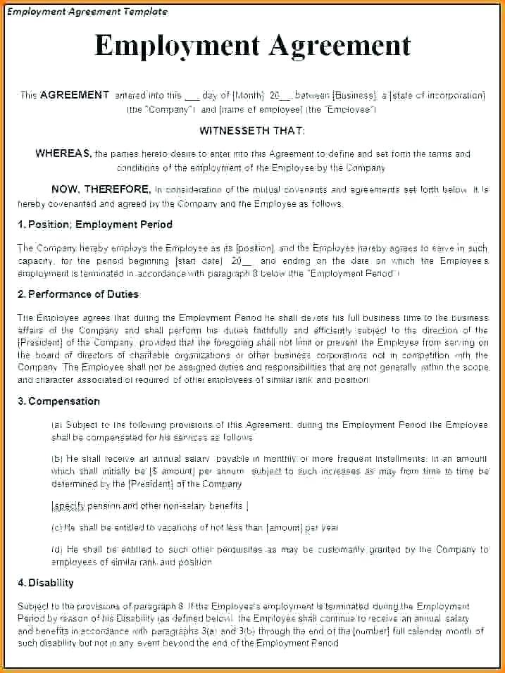 Temporary Employment Contract Template Philippines