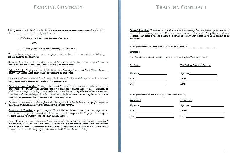 Temporary Employment Contract Template Singapore