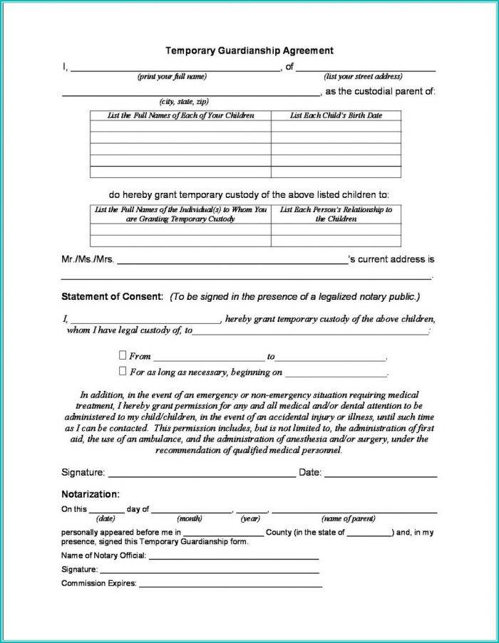 Temporary Guardianship Forms Az