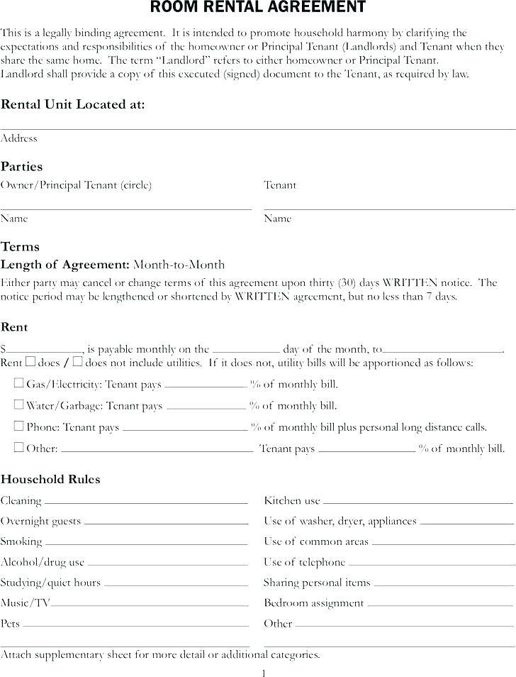 Tenant Application Form Template Scotland