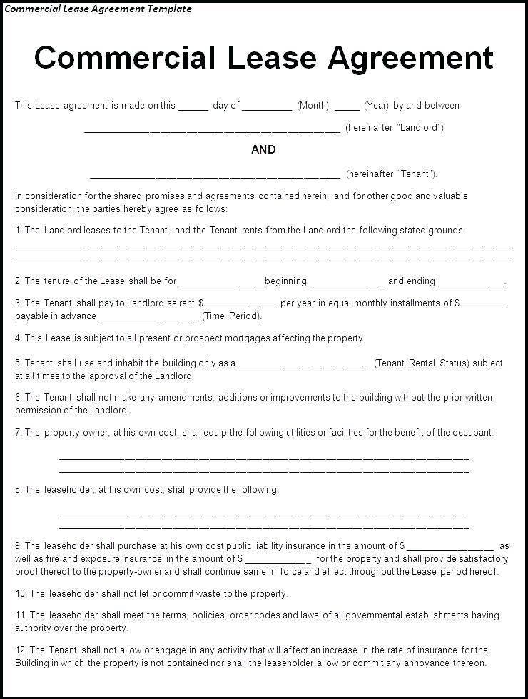 Tenant Contracts Template