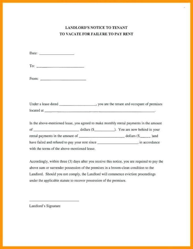 Tenant Notice To Quit Letter Template Uk