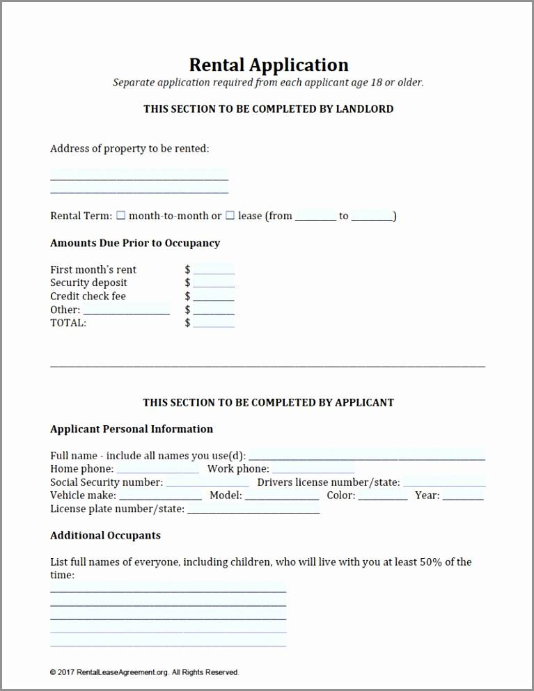 Tenant Reference Form Template Free