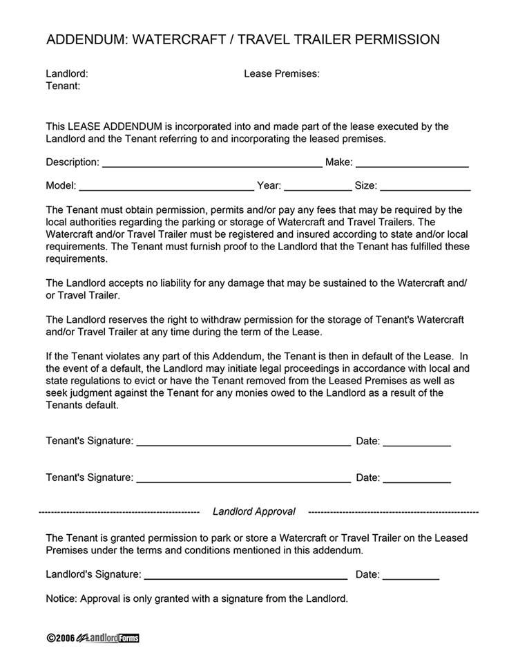 Tenants Agreement Template
