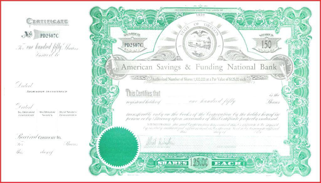 Texas Corporation Stock Certificate Form