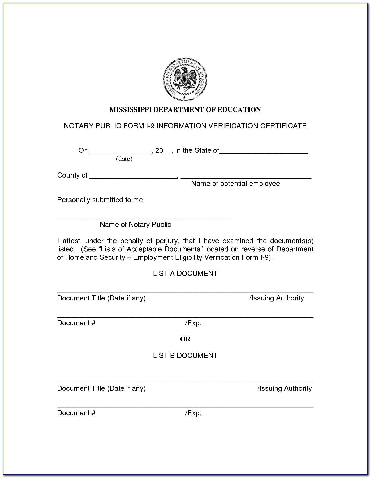Texas Notary Certificate Pads