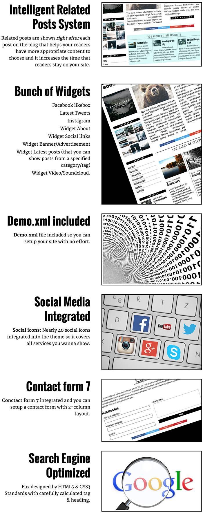 The Fox Magazine Template WordPress