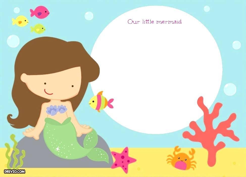The Little Mermaid Invitation Templates Free