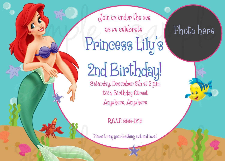 The Little Mermaid Invitation Templates