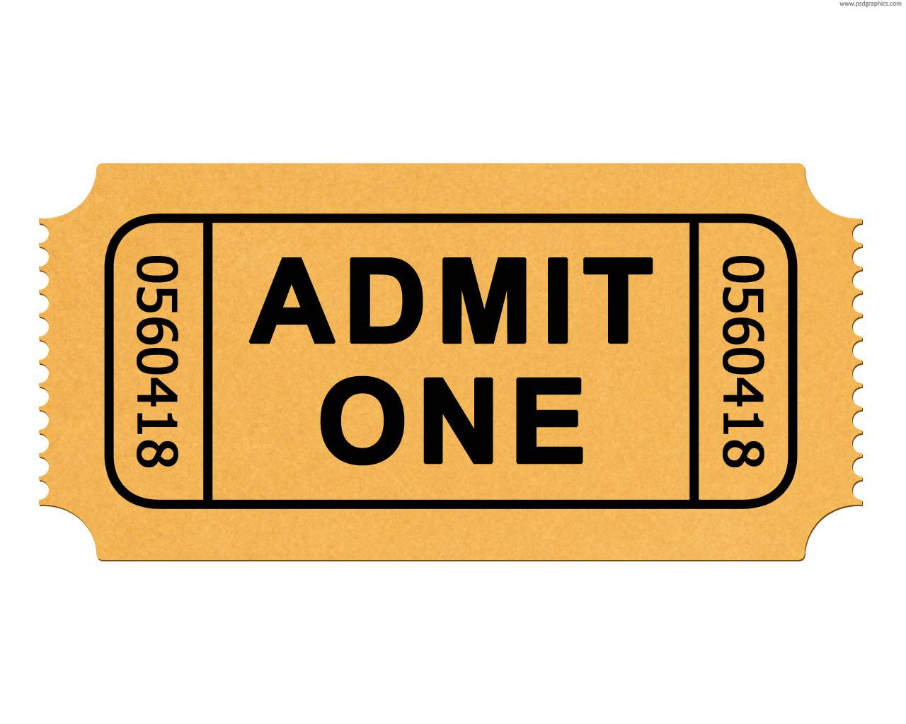 Theater Ticket Format