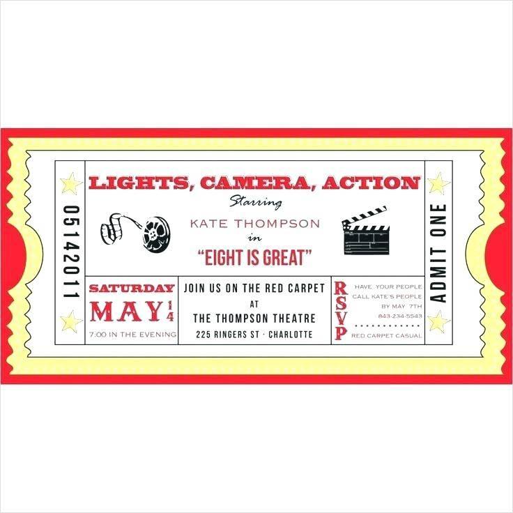 Theatre Ticket Invitation Template