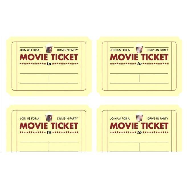 Theatre Ticket Voucher Template