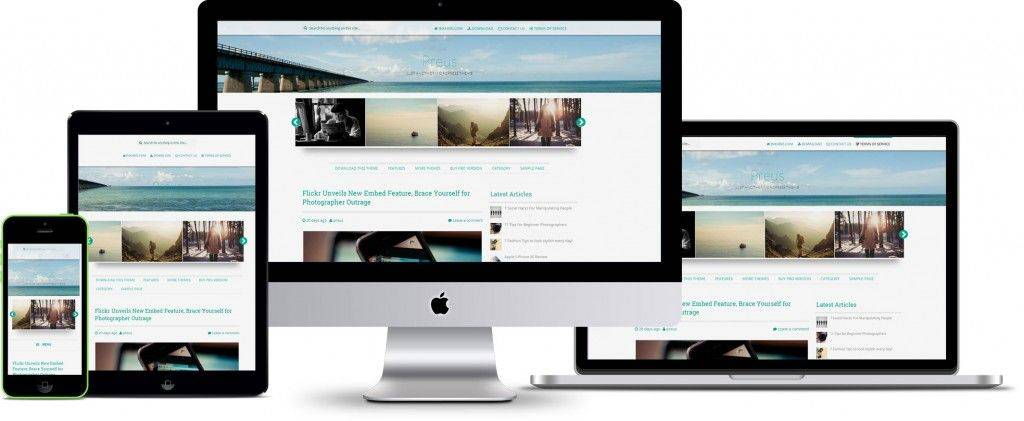 Theme WordPress Responsive Parallax Free