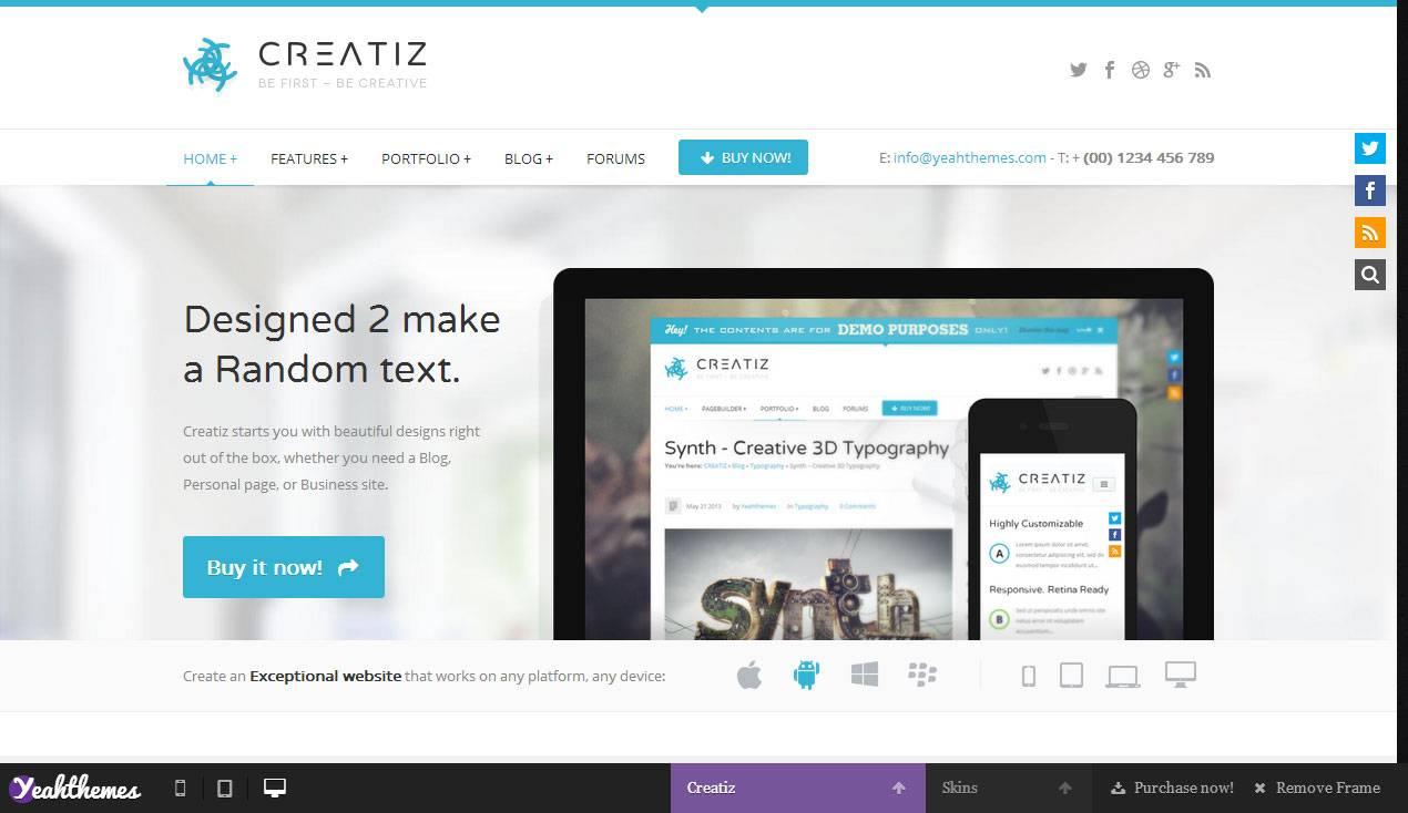 Theme WordPress Responsive Premium