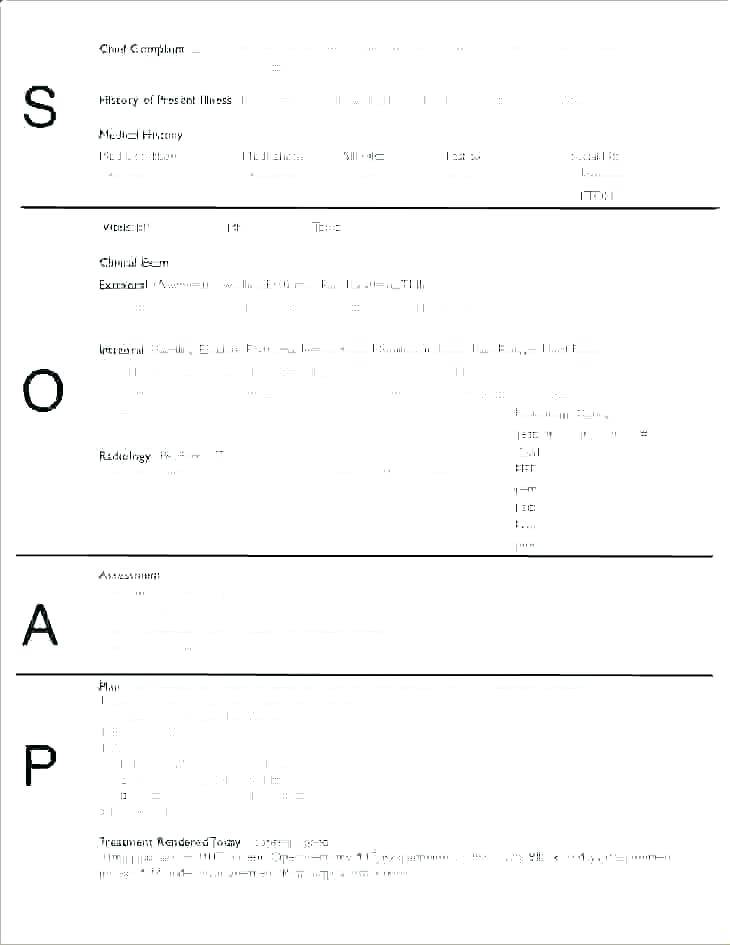 Therapy Soap Note Template