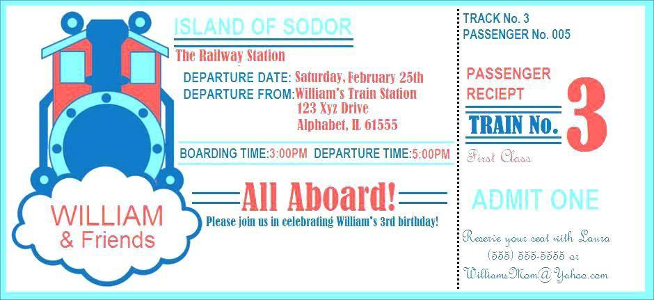 Thomas The Train Birthday Invitations Free Printables