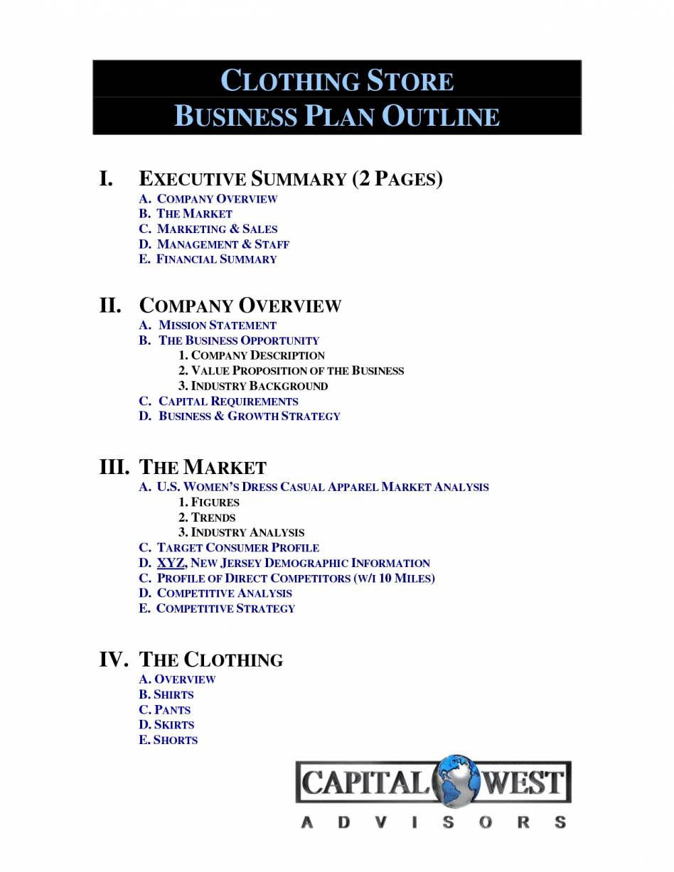 Thrift Store Business Plan Example