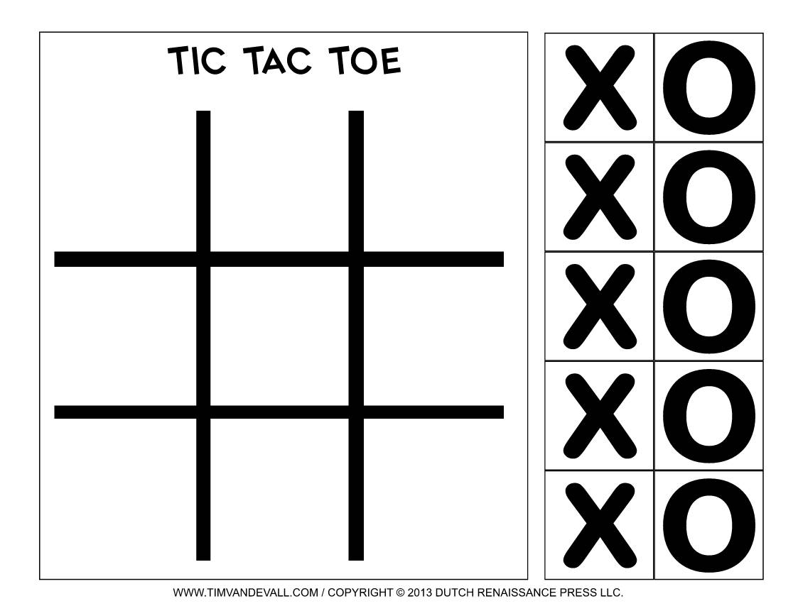Tic Tac Toe Game Powerpoint Template Free