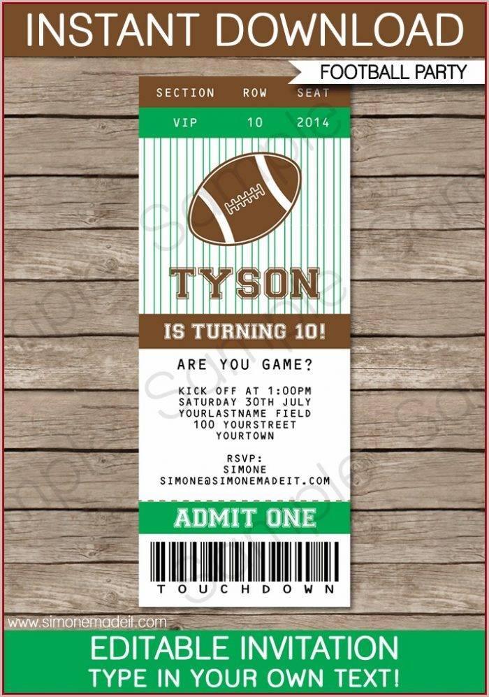 Ticket Invitation Template Free