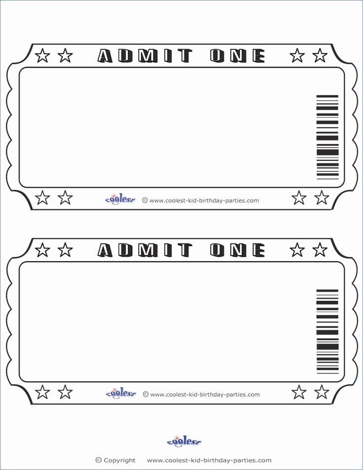 Ticket Invite Template Free