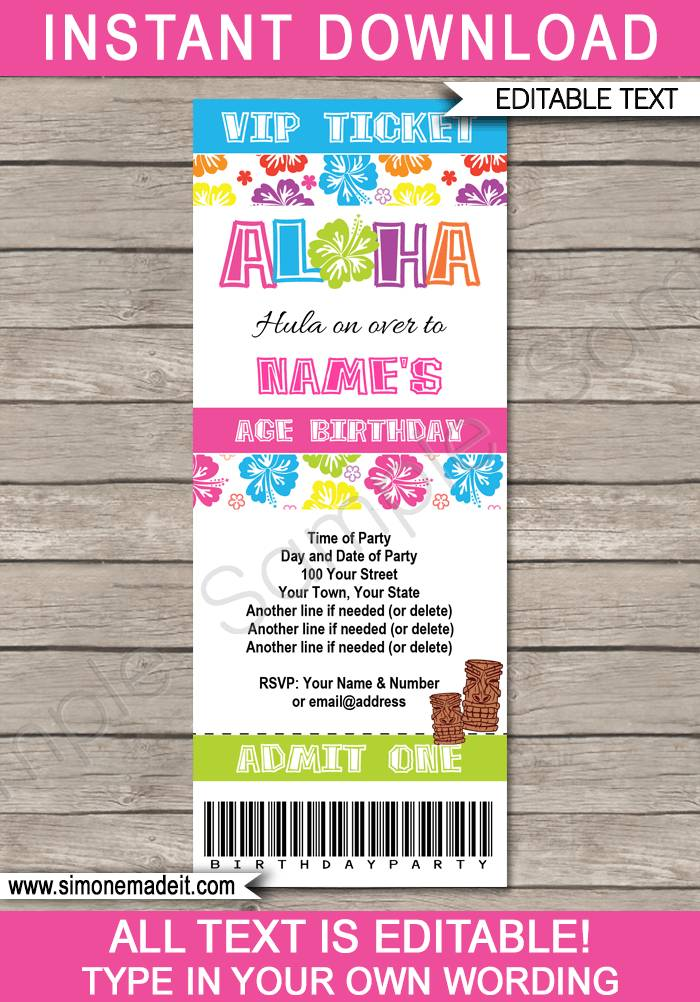 Ticket Invite Template
