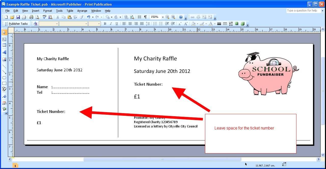 Ticket Maker Template Microsoft