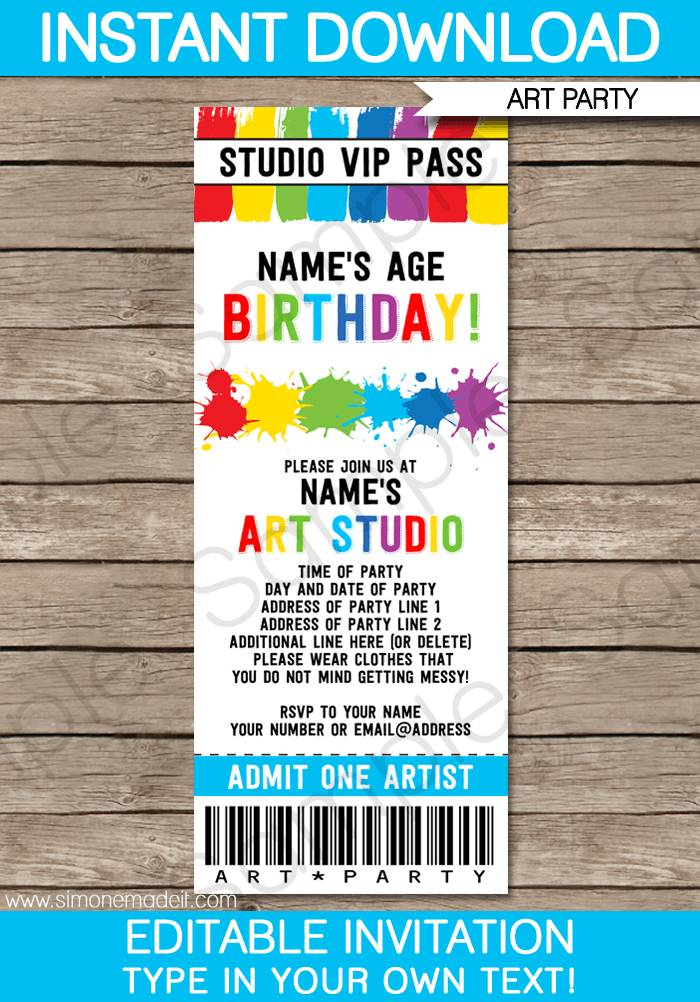 Ticket Party Template
