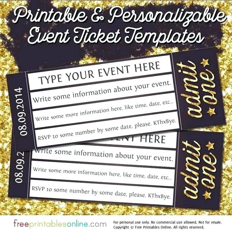 Ticket Stub Invitation Template Free
