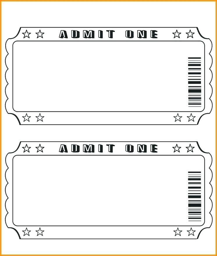 Ticket Stub Invitation Template
