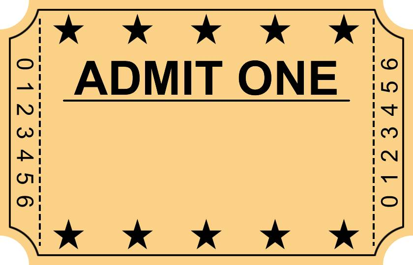 Ticket Stub Party Invitation Template