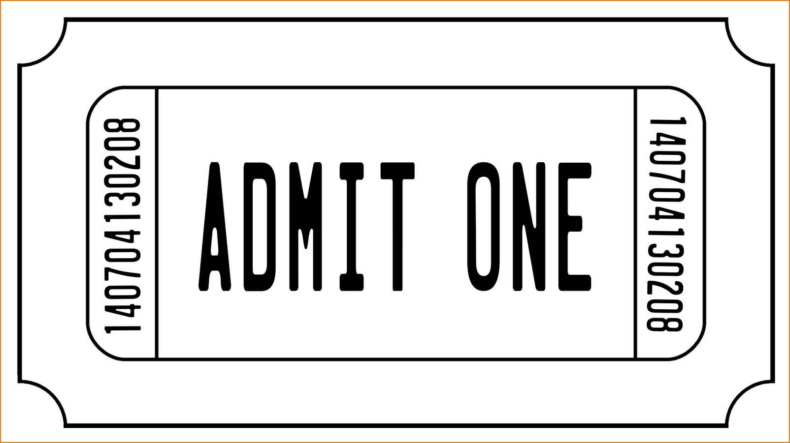Ticket Stub Template Word