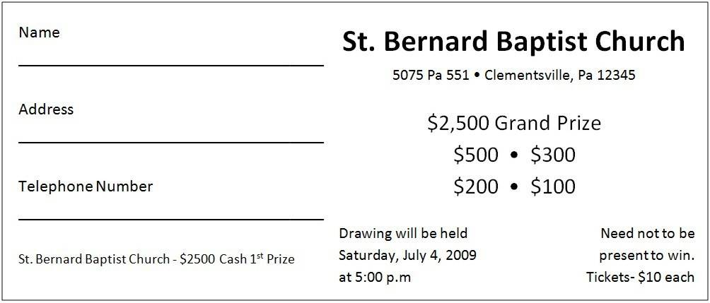 Ticket Template For Fundraiser