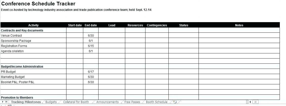 Timeline Planning Template Excel