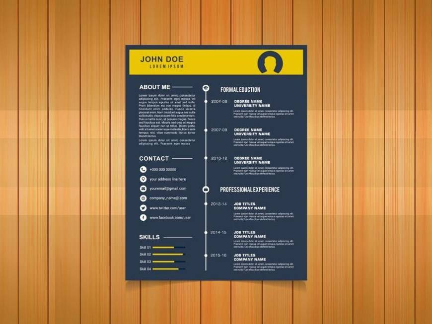 Timeline Resume Template Free Download